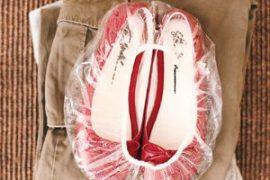 Zapatos en la maleta - DIY - Reutilizar cosas