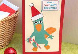 Tarjeta navideña Perry