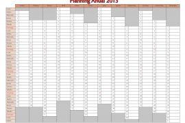Planning 2013 Español Calendario