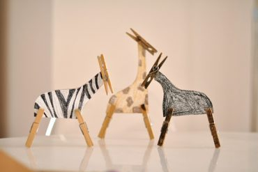 Manualidades - Animales con pinzas