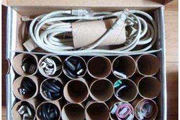 Organizar cables DIY Tutorial Manualidad