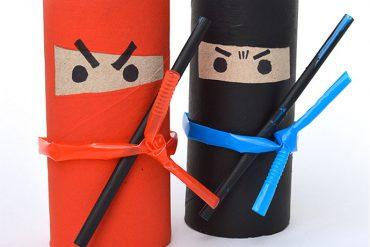 manualidades-ninjas-rollos
