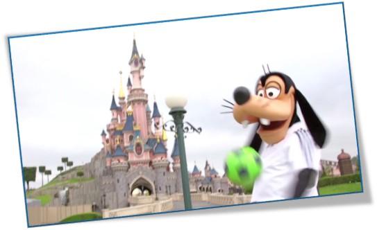 Goofy Disneyland Paris fútbol Eurocopa