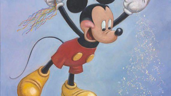 Retrato mickey mouse 90 cumpleaños Mark Henn
